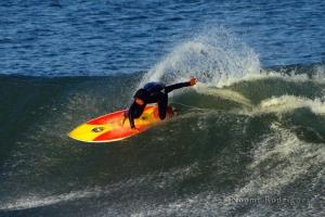 Surfer at the Supertubes